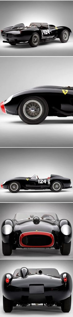1957 Ferrari 250 TR ~  the beautiful Scaglietti designed 250 TR was produced from 1957 to 1958 during which only 22 were constructed.