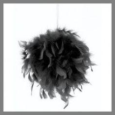 Boule de plumes noire - 20 cm : 4,90 €