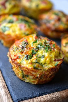 Ham, Spinach & Cauliflower Rice Breakfast Muffins