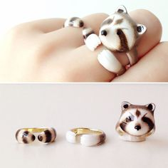 3-Piece Rings Let You Hang With Your Favorite Animal All Day Long