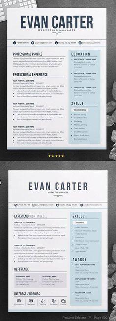 Simple Resume Template, Resume Design Template, Creative Resume Templates, Creative Resume Design, Professional Resume Design, Interior Design Resume, Free Professional Resume Template, Modern Cv Template, Professional Resume Examples