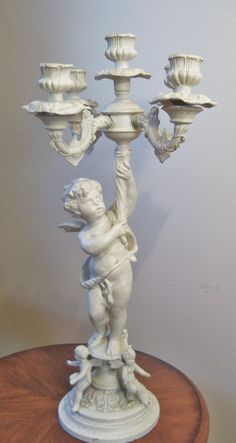 Antique Victorian Candelabrum Candelabra Cherubs Cupids Angels Putti from coyotemoonantiques on Ruby Lane