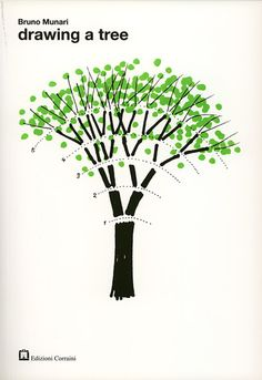"""drawing a tree"" "" bruno munari 1974"