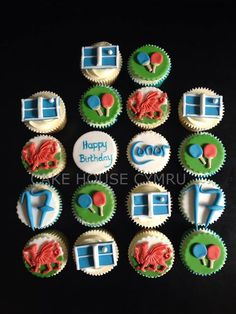 Birthday Cupcakes for a #Table #Tennis Player