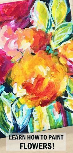 easy loose abstract flower painting on canvas how to paint loose abstract flowers with acrylics Flower Painting Canvas, Flower Canvas, Canvas Art, Floral Paintings, Acrylic Canvas, Art Paintings, Maria Emilia, Pineapple Painting, Acrylic Painting For Beginners