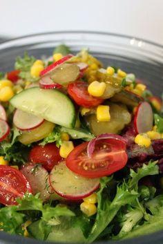 Sałatka do grilla Salad Recipes, Diet Recipes, Healthy Recipes, Types Of Salad, Polish Recipes, Cobb Salad, Grilling, Salads, Food And Drink