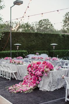 This table is dripping with peonies: http://www.stylemepretty.com/little-black-book-blog/2015/02/11/peony-filled-beverly-hills-wedding/ | Photography: Shaun Menary - http://shaunmenary.com/
