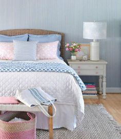 Beautiful Beds: Shabby Chic Layers of Pattern