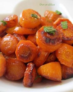 Carrots confit with honey baking: Diet & Delights Recipes diététi Diet Recipes, Vegetarian Recipes, Cooking Recipes, Healthy Recipes, Honey Recipes, Baking With Honey, Good Food, Yummy Food, Salty Foods