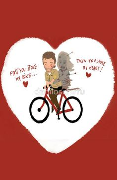 First you stole my bike.. then you stole my heart! #TheWalkingDead Valentine's card