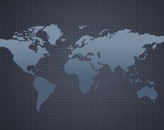World Map 1280x1024