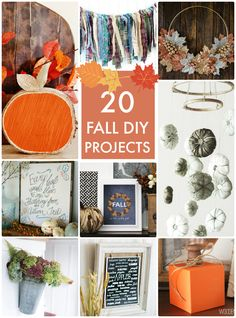 20 Fall DIY Projects! Great ideas for decorating your home for Fall!