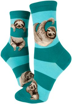 """We could laze about for daze """"teal"""" the sloths come home in these cute crew ModSocks Originals!"""