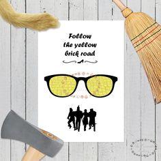 el mago de oz, wizard of oz, yellow road, laminas nordicas, the wizard of oz, laminas A4, laminas A3, laminas imprimibles, laminas peliculas, peliculas, laminas decorativas, follow the yellow brick road, yellow brick road