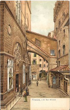 L'Or San Michele, Firenze - Florence, Italy, Antique  1903 Color Postcard, Stengel & Co. #19942 by Starpower999 on Etsy https://www.etsy.com/listing/256440659/lor-san-michele-firenze-florence-italy