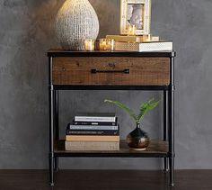 Juno Reclaimed Wood Bedside Table #potterybarn