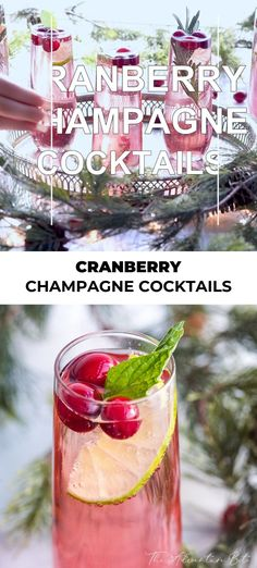 This Pomegranate Champagne Cocktail is the easiest cocktail for entertaining! Just 3 ingredients and no cooking! Cranberry Champagne Cocktail, Champagne Recipe, Prosecco Cocktails, Easy Cocktails, Champagne Drinks, Sangria Recipes, Cocktail Recipes, Smoothie Recipes, Cooking Cranberries