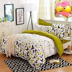 #bedding Bed Size:Double, Sizes:Queen, Patterns: #Novelty, Material:Poly/Cotton,Polyester, Backing Material:Velvet,Poly/Cotton, Color:Multi Color, Weave #Type:Plai...