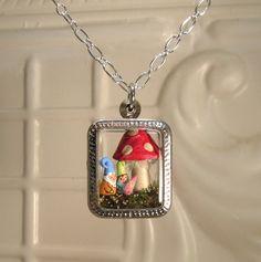 Terrarium Gnome Family Mom, Dad and Baby Pendant - Custom Order. $45.00, via Etsy.