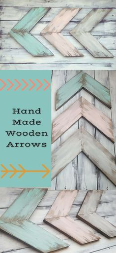 These Rustic Wooden Arrows are perfect for your Farmhouse style, Woodland Nursery Decor. #ad #farmhouse #rustic #woodland