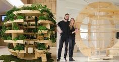 Planos e instrucciones para construir una esfera de varios niveles que puede alimentar con vegetales a una familia entera.