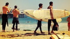 Surfers at Surfrider Beach, Malibu. The Golden Boy, Aloha Spirit, Malibu Beaches, California Love, World Famous, Surfboard, Surfing, Travel, Boards