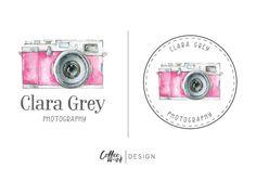 Logo Design Camera Logo Photography Wedding von CoffeeandInkDesign