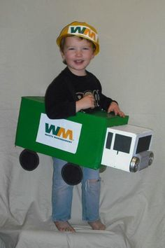 10/31/11- garbage man in a garbage truck. halloween '11 age 3