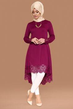 C.M.N - Lazer Kesim Peplum Tunik PL670 Şarabi (1) Hijab Dress, Hijab Outfit, Hijab Fashion Inspiration, Style Inspiration, Girl Fashion, Fashion Dresses, Womens Fashion, Islamic Clothing, Kurta Designs