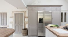 LOve the way the units surround the fridge