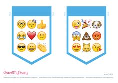 Free Emoji Party Printable Happy Birthday Banner | CatchMyParty.com