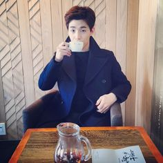 "Henry Lau (@henrylau89) ""Who wants a cup of tea?"" .........so cute"