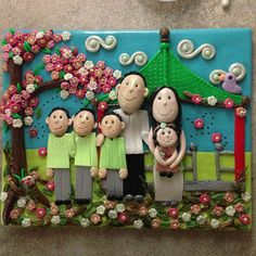 A Customized Polymer Clay Family Portrait made by SugaredLipz