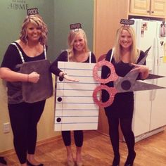 Pin for Later: Ghouls Gone Wild! 60 Creative Girlfriend Group Costumes Rock, Paper, Scissors