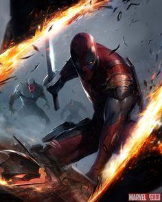 Deadpool card art by Francesco Mattina from Marvel War of Heroes   Marvel.com