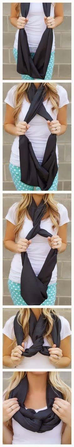 Easy way of making new style of scarf