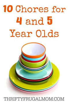 Help your 4 or 5 year old child learn responsibility and important life skills with these 10 chores that they should easily be able to do by themselves. Includes helpful tips, too!