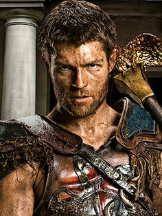 SPARTACUS S3 War of the Damned (E1 2013-01-25 to E10 2013-04-12 on Starz) • creator Steven S. DeKnight (NJ, prod./writer Spartacus + SmallVille) • stars: Liam McIntyre (Aussie) as Spartacus + Manu Bennett (NZ) as Crixus & wife Lucretia by Lucy Lawless (NZ, Xena) + John Hannah (Scot.) as Batiatus & wife Saxa by Ellen Hollman	(US) + Peter Mensah (UK) as Doctore • depicted: official bio portrait
