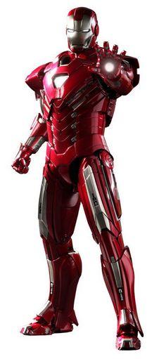Hot Toys Grande Figurine Iron Man 3 taille env. 30 cm avec éclairage électronique par LED, socle logo, nombreux accessoires et parties interchangeables
