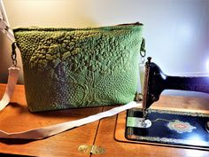 Tree of Life quilted messenger bag