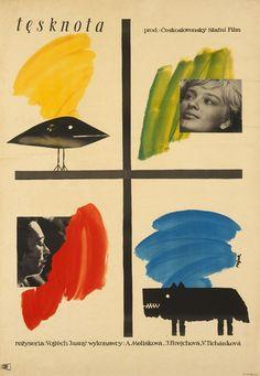 1959 Polish poster for DESIRE (Vojtech Jasny, Czechoslovakia, 1958) Designer: Jerzy Flisak (1930-2008) [see also] Poster source: Danish Film Institute
