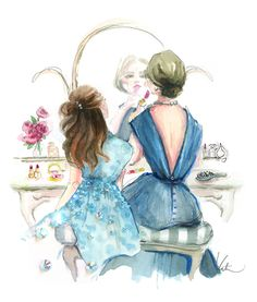 Southern Lady Apprenticeship.... Dress Up with Mom ~ by Katie Rodgers  (We learned the art of Southern Ladyship at our mothers' sides)