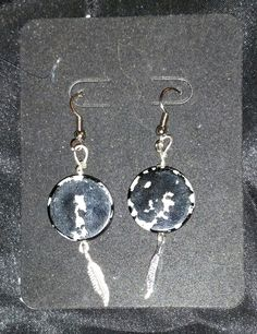 Black and White reversible earrings by PleinDesign on Etsy