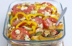 Griekse aardappelschotel met feta