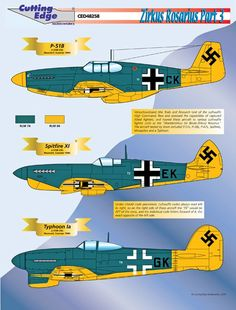 Examples of Allied aircraft captured and flown by the Luftwaffe.