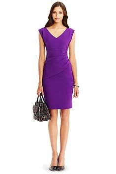 DVF Bevin Ceramic Ruched Sheath Dress -- have this in blue! LOVE IT!