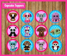 Beanie Boo Toppers instant download Printable Beanie Boo