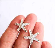 Your place to buy and sell all things handmade Starfish Earrings, Stud Earrings, Gold Plated Necklace, Little Gifts, Rose Gold Plates, Pendants, Sterling Silver, Handmade, Stuff To Buy