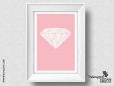Kunstdruck – Like a diamond –  von Schnuggellaedchen auf DaWanda.com