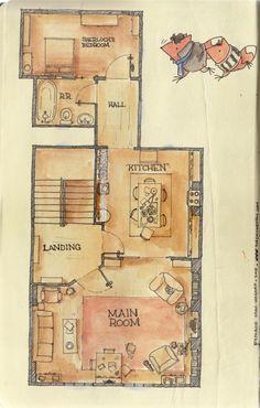 sherlock 22b baker st floorplan - Google Search